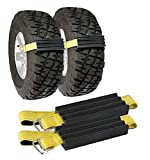 TRACGRABBER Tire Traction Device for Snow, Mud and Sand – for Trucks and Large SUVs, Set of 2 – Easy to Install, Get Unstuck Fast – A Snow Traction Mat or Snow Chain Alternative