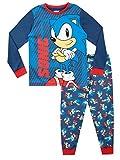 Sonic the Hedgehog Jungen Schlafanzug Blau 128