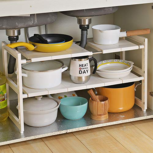 OBOR Expandable Under Sink Organizer - 2 Tier Multifunctional...