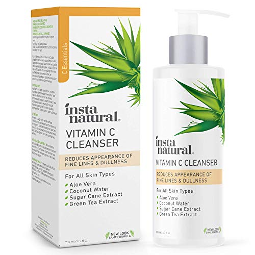 Facial Cleanser - Vitamin C Face Wash - Anti Aging, Breakout & Blemish, Wrinkle Reducing, Exfoliating Gel - Clear Pores on Oily, Dry & Sensitive Skin with Organic & Natural Ingredients - 6.7 oz