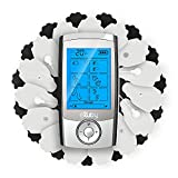 Exuby Tens Unit Machine w/ 30 Reusable Palm Pads - Relieve Pain & Promote Recovery - 16 Unique Modes for Different Muscles - Powerful, Compact, Easy to Use with 10-Hour Battery Life – FDA Registered