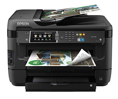 Epson Workforce WF-7610 - Impresora multifunción (Inyección de Tinta, 1200 x 2400 dpi, A3, 9600 x 9600 dpi, Color, De Superficie Plana y alimentador automático de Documentos)