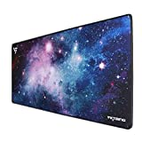 VicTsing [30% Larger] Extended Gaming Mouse Pad with Stitched Edges, Long XXL Mousepad (31.5x15.7In), Desk Pad Keyboard Mat, Non-Slip Base, Water-Resistant, for Work & Gaming, Office & Home, Galaxy