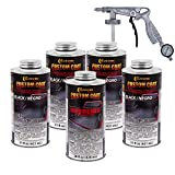 Custom Coat Black 0.875 Gallon Urethane Spray-On Truck Bed Liner Kit with Spray Gun with Regulator