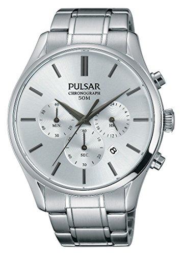 Pulsar Herren Analog Automatik Uhr mit Edelstahl Armband P9A001X1