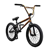 Mongoose Legion L80 Freestyle BMX Bike for Intermediate to Advanced Riders, Featuring 4130 Chromoly Frame and Micro Drive 25x9T BMX Gearing with 20-Inch Wheels, Copper/Black