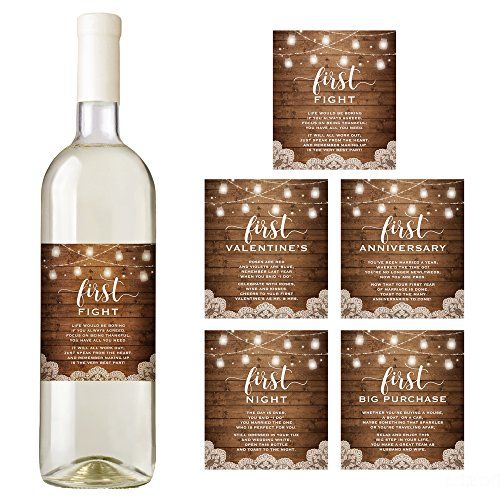Rustic Wedding Wine Bottle Labels, Wedding Milestones,...