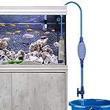 Laelr Nettoyeur d'aquarium Changement d'eau, de sable Filtre à gravier Siphon Pompe aspirante avec débit...