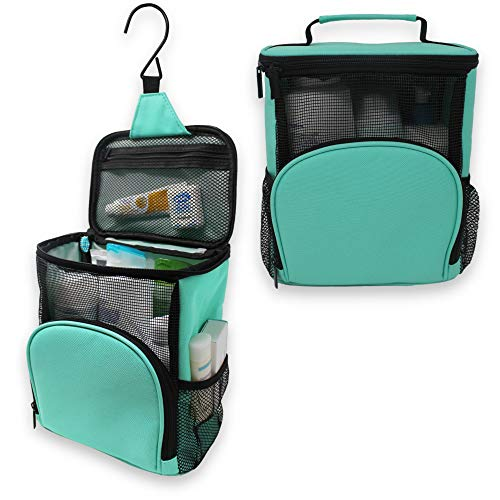 TERRA HOME Portable Shower Caddy - College Dorm Room Essentials - Large Capacity, Quick Dry and Water Resistant...