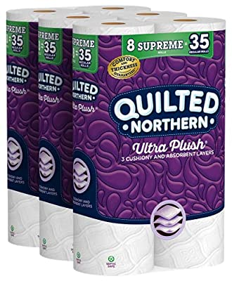 Pamper yourself with 3 cushiony-soft layers of premium toilet paper in every roll Each Supreme Roll has 319 3-ply sheets and is equivalent to 4 Regular Rolls, so you change the roll less often Our sheets have 3 layers and are 3X thicker and 3X more a...