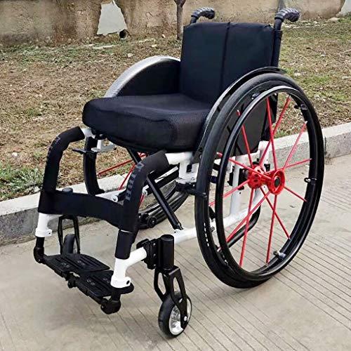 Carrozzina Sportiva Disabile Carrozzina Manuale Pieghevole Leggero Lega di Alluminio Carrozzina...