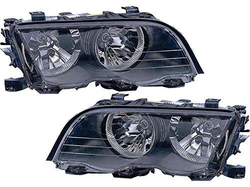 Headlight Replacement Set for 1999-2001 E46 Sedan Driver Passenger Pair