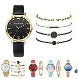 FIRFONMA Montre mode pour dames avec bracelet, montre à quartz pour dames, montre pour dames avec collier, montre décontractée pour dames, cadeau pour la...