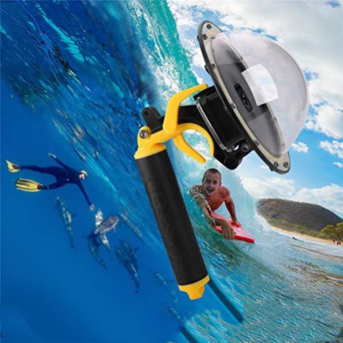 FEIMUOSI per GoPro Dome Port Hero 8 Nero, Impermeabile Custodia Impermeabile per Accessorio GoPro con Trigger Gun e Fotografia Subacquea di Copertina.
