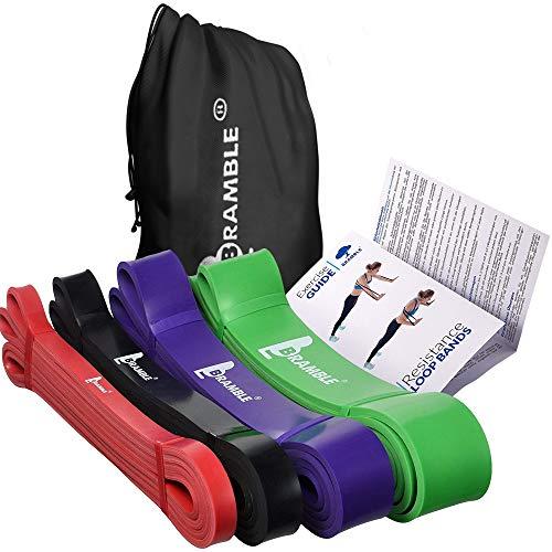 4 Pack Premium Fitness Resistenza Band, Pull Up Bande - Elastiche Loop Band, Esercizio Fasce per...