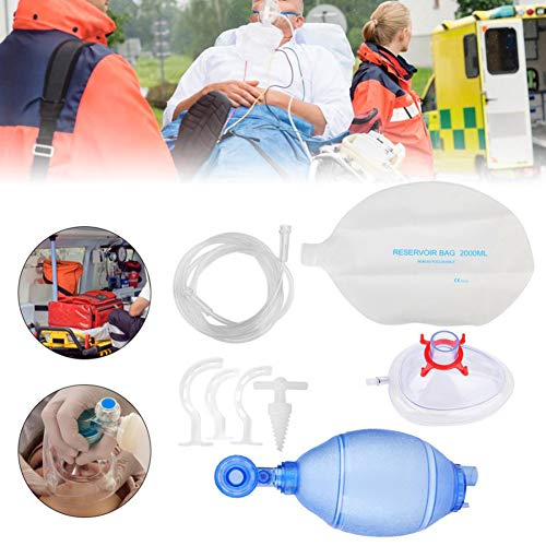 PYXZQW Simple Breathing Apparatus with Oxygen Tube, Reservoir Bag, Manual Simple Respirator, Adult/Child Home Prefessional Use,Adult