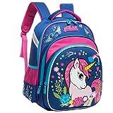 WHT Bolso de escuela 2019 niñas unicornio, adolescentes Estudiante taleguilla Mochila grande Un tamaño Azul, valor: Unicorn