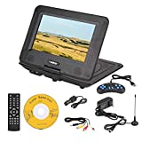 V BESTLIFE Portable DVD Player, 9.8in 3D Stereo Portable DVD Player Game Playing Hundreds of TV Channels HD DVD Player(US Plug)