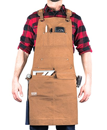 Hudson Durable Goods - Woodworking Edition - Waxed Canvas Apron -...