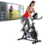 Sportstech Bicicleta Estática | Bicicleta Fitness con Volante de 22 kg - Eventos en Video &...