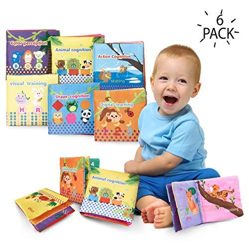 6 Libri Di Stoffa Per Neonati | Libro Tessuto Morbido Ottimo Per L'educazione E Lo Sviluppo Precoce...