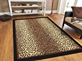 Modern Area Rugs Brown Cheetah Leopard 5x8 Rugs for Living Room 5x7