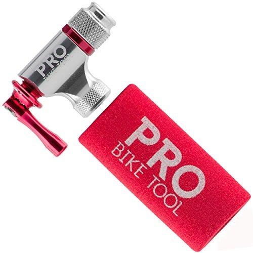 PRO BIKE TOOL CO2 Inflator Quick & Easy - Compatibile con la valvola Presta & Schrader - Pompa per...