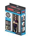 Magic Mesh New and Improved Hands Free Magnetic Screen Fits Doors Up to, 83 x 39, Black