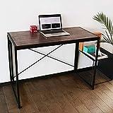Portable Folding Computer Desk Under 100 Dollars Simple Modern Study Writing Desk Industrial Style...
