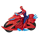 Hasbro Spider-Man- Spider-Man Personaggio con Veicolo Moto per Bambini da 4 Anni in su, Multicolore, E3368