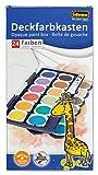 Idena 22064 - Deckfarbkasten mit 24 Farben und 1 Tube Deckweiß, ideal für Kindergarten, Schule und zu Hause