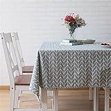 Meiosuns Nappe Rectangulaire Nappes Coton et Lin Nappe en Sergé Simple Style...