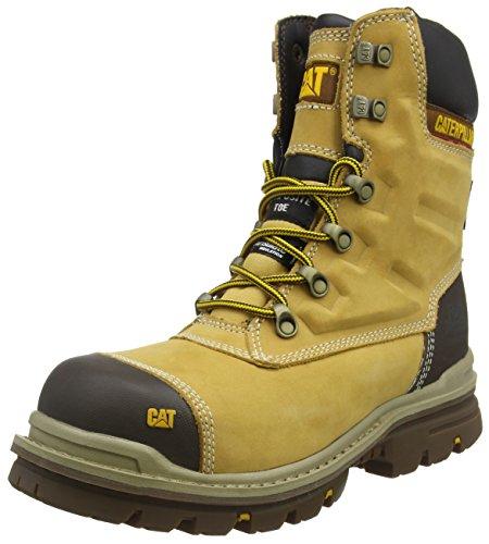 """Caterpillar Premier 8"""" WR TX CT S3 HRO SRC, Zapatos de Seguridad para Hombre, Amarillo (MN Hnyrst MN Hnyrst), 42 EU"""