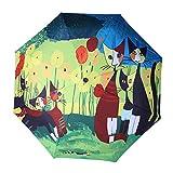 KDOAE Paraguas de Lluvia Lluvia Paraguas Protección UV Paraguas Plegable Paraguas a Prueba de Viento de Viajes Ligero (Color : Multi-Colored, Size : One Size)