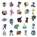 LINGJIA Erizo sónico Pegatina 20 unids / Lote Paquete Anime Juego Sonic The Hedgehog Pegatinas de Dibujos Animados para DIY Laptop Skateboard Phone Ps4 Coche Bicicleta Casco para Adolescentes niños