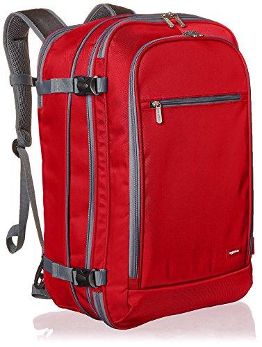Amazon Basics - Zaino da viaggio/bagaglio a mano, Rosso - 50L