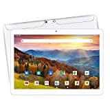 【2019 Upgraded 】 Yuntab K107 10.1 Inch Quad Core CPU MT6580 Cortex A7 Android 5.1,Unlocked Smartphone Phablet Tablet PC,1G+16G,HD 800x1280,Dual Camera,IPS,WiFi,GPS,Support 3G Dual SIM Card(White)