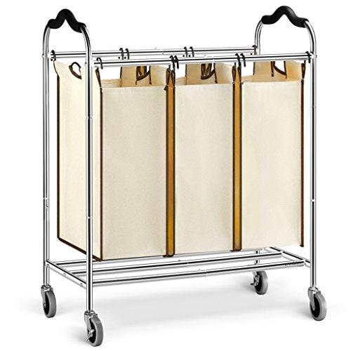 Langria Wäschesammler 3 Fächer