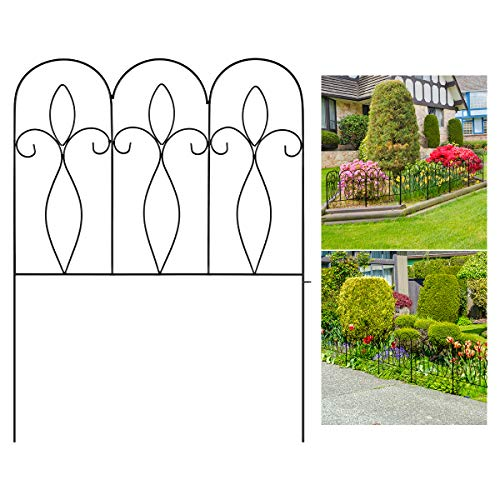 XCSOURCE 5Pcs Decorative Garden Fence 32in x 10 ft Outdoor Coated...