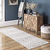 nuLOOM Moroccan Blythe Runner Rug, 2' 8' x 12', Grey/Off-white