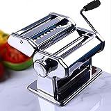 Eloklem Machines à Pâtes Manuelles Machine pour Faire des Pâtes Acier Inoxydable - pour Spaghettis, pâtes et lasagnes (Blanc)