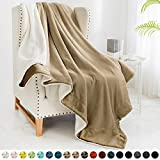 """Walensee Sherpa Fleece Blanket (Twin Size 60""""x80"""" Camel) Plush Throw Fuzzy Super Soft Reversible Microfiber Flannel Blankets for Couch, Bed, Sofa Ultra Luxurious Warm and Cozy for All Seasons"""