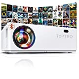 """TOPTRO Bluetooth Projector, Native 1080P and 350"""" Display, 8500L Video Projector, Support 4K, Zoom & ±50°4D Keystone Correction, Home Theater Projector Compatible with Phone/TV Stick/PC/USB/PS4/DVD"""