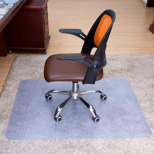 HOMYY Fußmatten für Computerstühle, Computerstuhlmatte,verschleißfeste Faltbare Bodenschutzmatte, rutschfeste Matte für Home Office Computerstühle