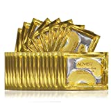 (25 Pairs) ALIVER Crystal 24K Gold Powder Gel Collagen Eye Mask,Premium...