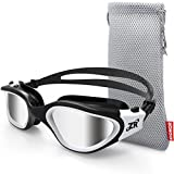 ZIONOR Swim Goggles, G1 Polarized Swimming Goggles UV Protection Leakproof Anti-Fog Adjustable Strap for Adult Men Women (Polarized Lens Black White) (Misc.)