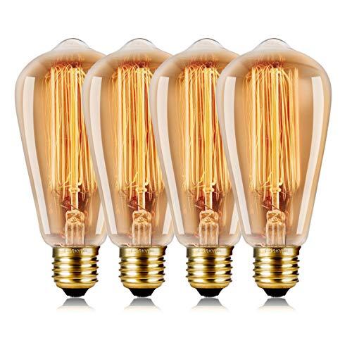 Wedna 60W Edison Vintage lampadina ST64 E27 lampada bar stile industriale luce retr Lampadine - 4...