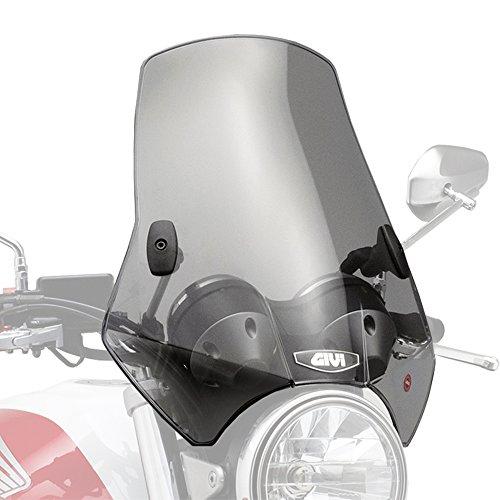 GIVI (ジビ) バイク用 スクリーン 汎用(バーハンドルクランプ) セミスモーク A660 中型ウインドスクリーン 93957