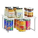 iDesign rangement cuisine, petite étagère de rangement en plastique et métal,...