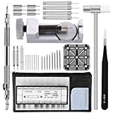 What is in the package?EFIXTK watch band tool kit comes with a watch band link pin remover with 3 extra tips,a spring bar tool set with 3 extra tips,72PCS watch band pins in retail box,a plastic watch holder, a dual head hammer, 2 pin punches,20PCS C...
